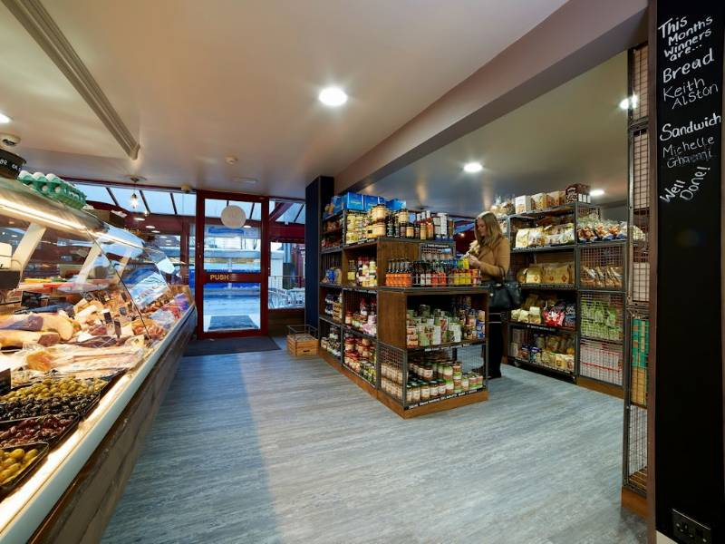 Polyflor's Expona flooring looks a treat at Barbakan Deli
