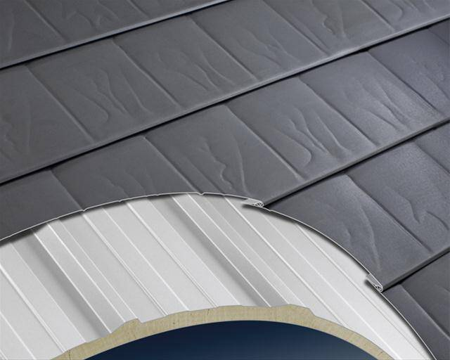 Metal insulating sandwich panel roof systems