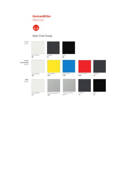 Keyn Chair - Colour Choices