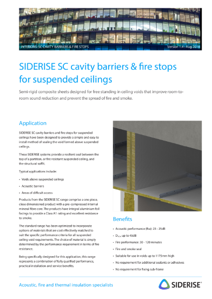 Cavity fire barriers - Suspended Ceilings v1.4