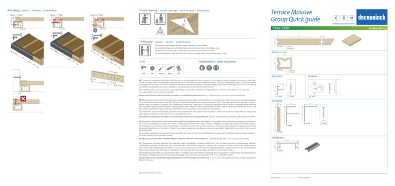 "Twinson Composite Decking 'Solid' ""Massive"" Installation Quick Guides"