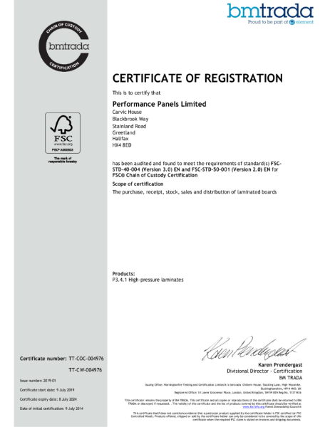 BioCarbon Laminates FSC® Certified