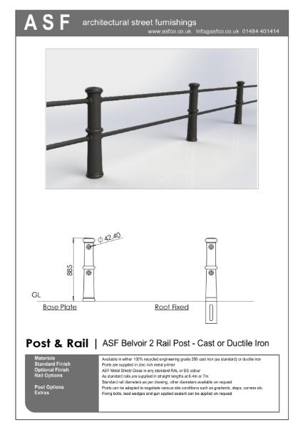 ASF Belvoir 2 Rail Post