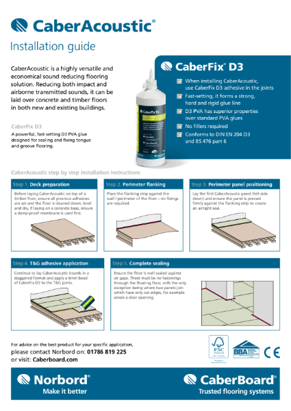 CaberAcoustic Installation guide