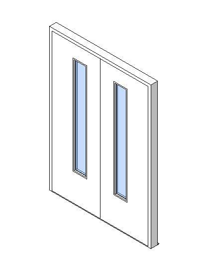 External Double Door, Vision Panel Style VP03