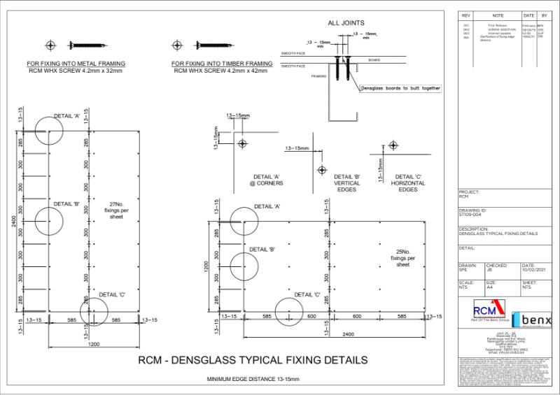 Board Fixing Guide - Densglass