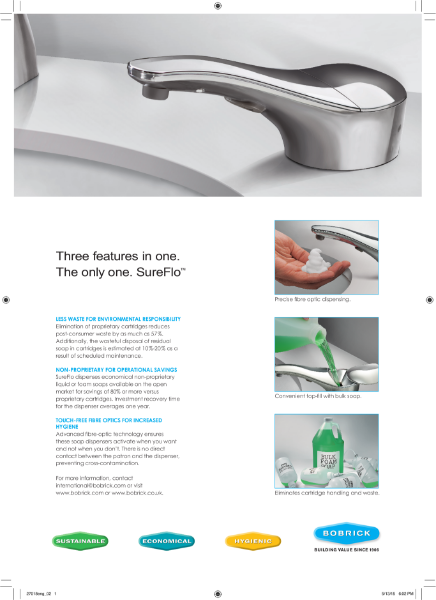 SureFlo Automatic Counter-Mounted Soap Dispenser