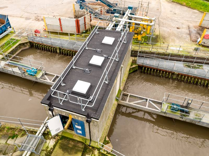 Essential Roofing Works Carried Out For Sewage Treatment Works