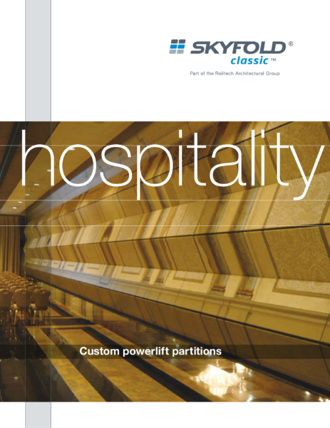 Skyfold moveable wall system - hospitality