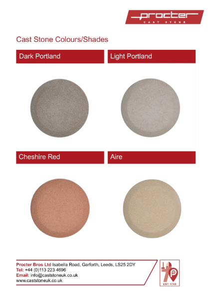 Cast Stone Colour & Shades