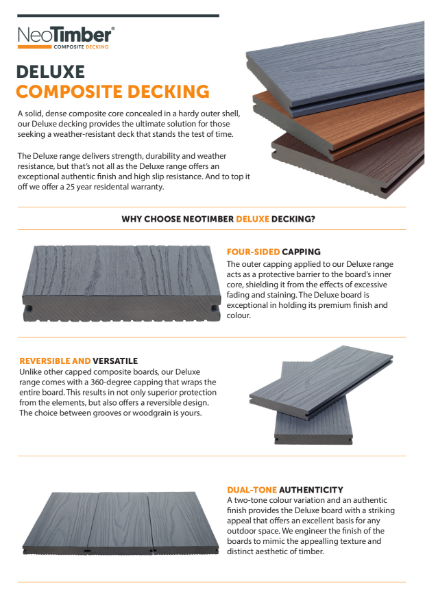 NeoTimber Deluxe Composite Decking Technical Specifications