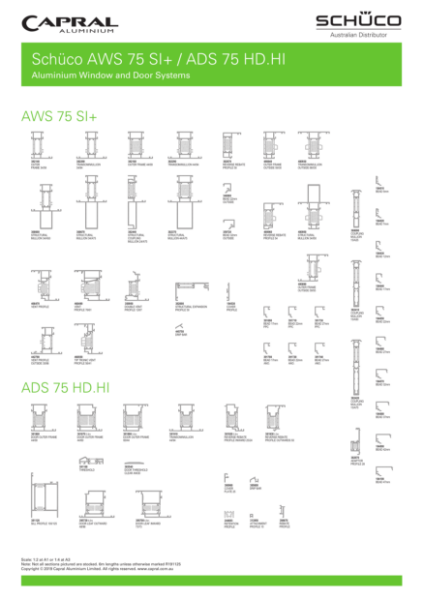 Extrusion Wall Chart Schuco AWS ADS 75 1911