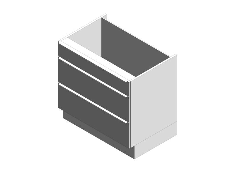 Gallery Drawer Base Cabinets 3 Draw