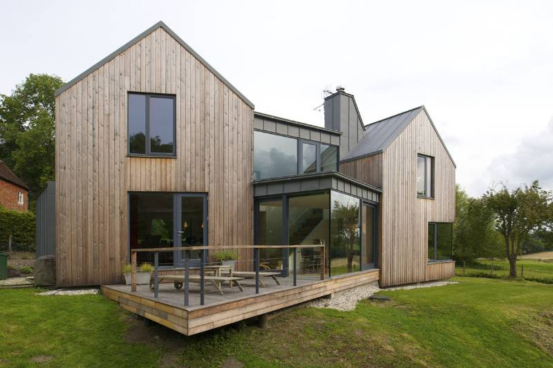Lift and Slide and Soltaire used for architects rural new build