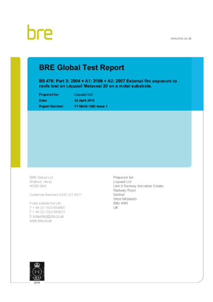 BRE Global Test Report