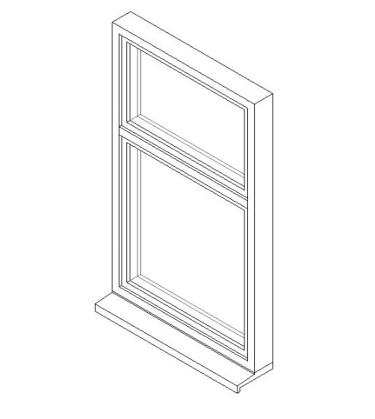 Single Window System with a Side Hung Opening Light and Fixed Transom