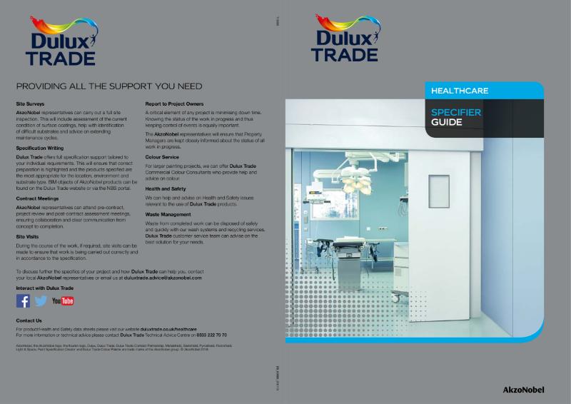 Dulux Trade Healthcare Brochure