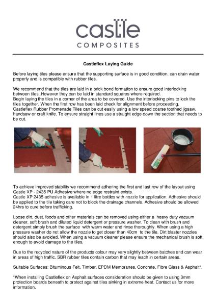 Castleflex Rubber Tile - Install Guide