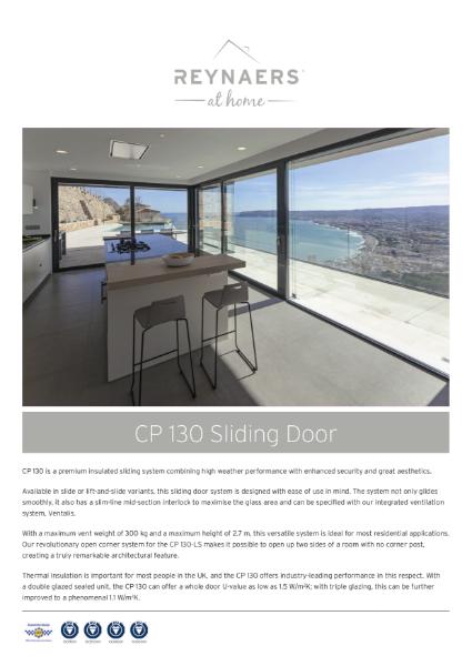 Aluminium Sliding Door for Domestic Market - CP 130