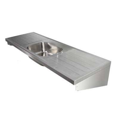 Stainless Steel Sink and Double Drainers ST B