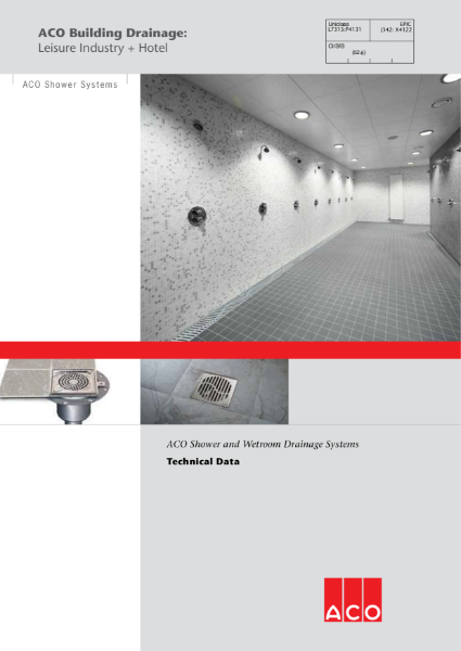 ACO Shower and Wetroom Drainage Systems