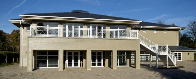 Accoya cladding on Pipers Corner School, High Wycombe