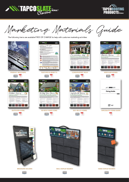 TapcoSlate Classic Marketing Materials