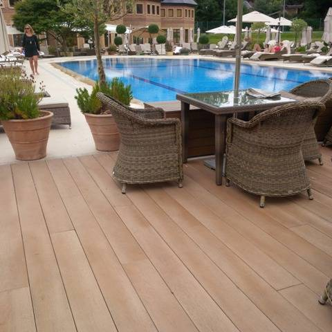 Commercial Composite Decking Case Study - Penny Hill Park Hotel Outdoor Pool Area