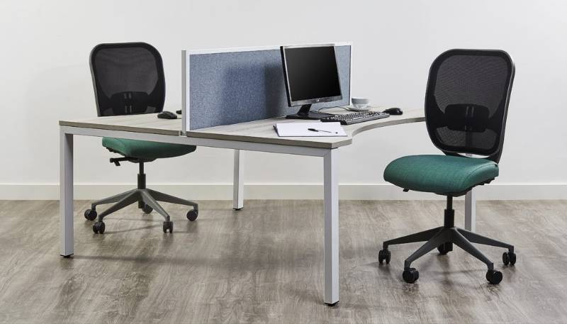 Mesa Plus Double Sided Rectangular Desking