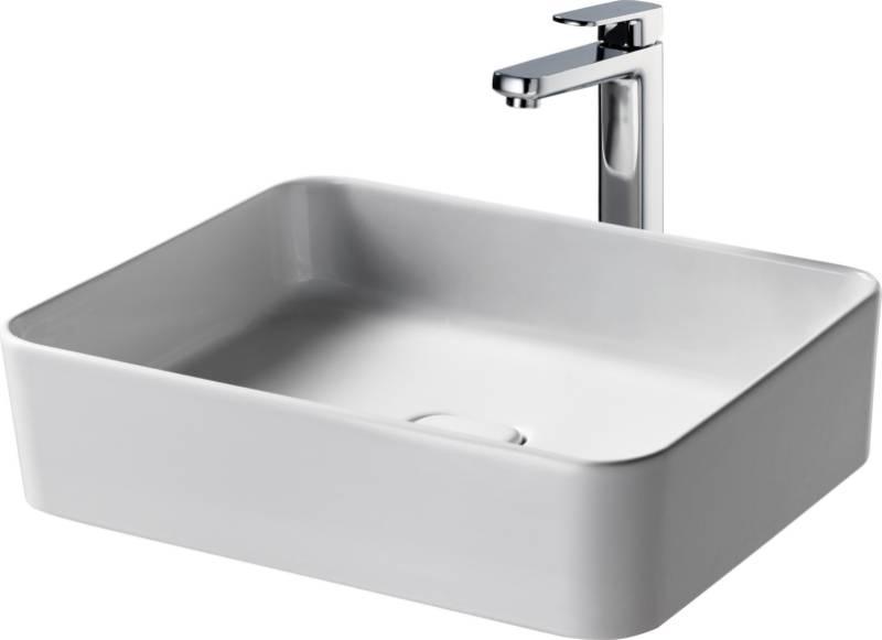 Fusaro Vessel Basin 50X40 White NOF NTH Rect