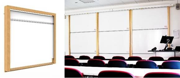 Sundeala TeacherBoards Roller Board - Wooden Framed Wall Mounted Dry-Wipe Rolling Sheet Writing Surface