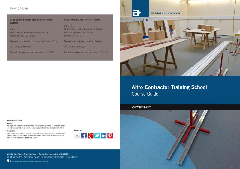 Altro Training School Brochure