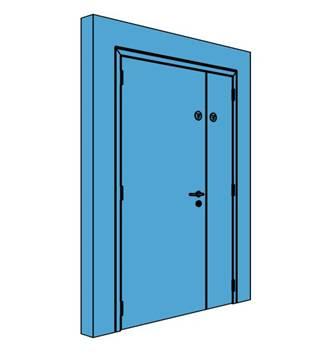 Unequal Metal Office Store Door