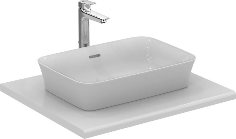 Ipalyss Vessel Rectangular 55X38 Cm With Overflow, No Taphole