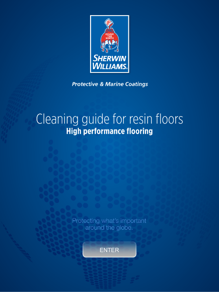 Sherwin-Williams Guide for cleaning resin floors