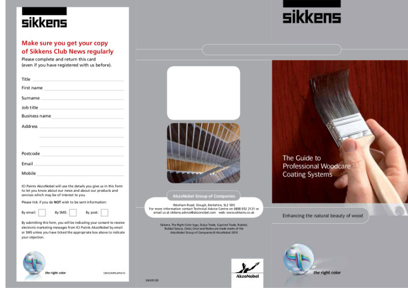 The Sikkens Guide to Professional Woodcare