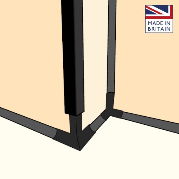 Quantum Flooring: Wet Room Floor and Wall Accessories - Floormitre Cap and Cove System