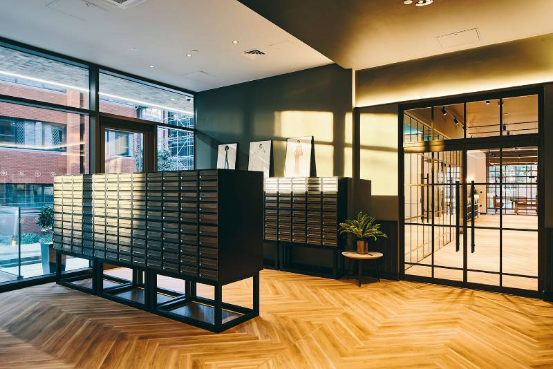 Symons House - Leeds | Banks of Freestanding Mailboxes
