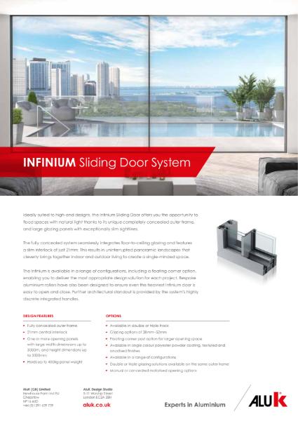 AluK Infinium Sliding Door System Datasheet