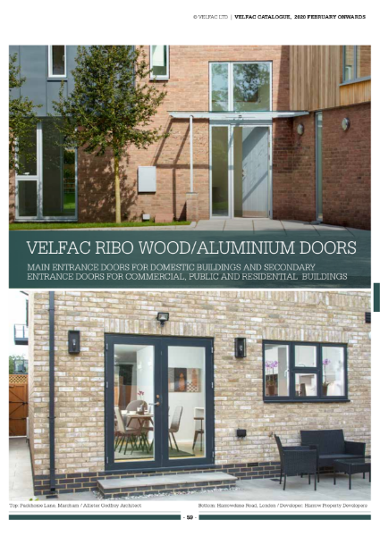 VELFAC Ribo Composite Door System Product Catalogue