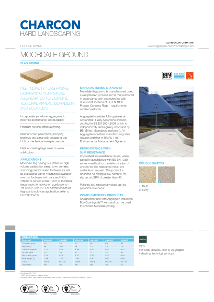 Charcon Moordale Ground flag paving