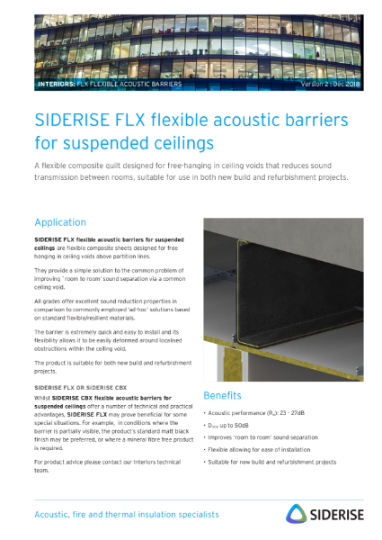 Black flexible acoustic barrier - suspended ceilings v2