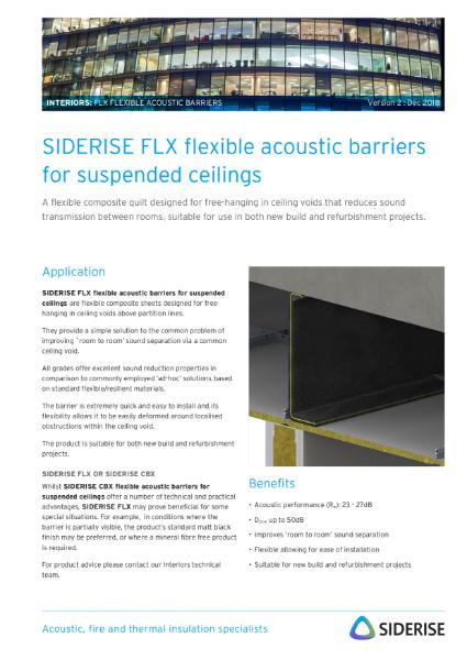 Black flexible acoustic barrier - suspended ceilings v2