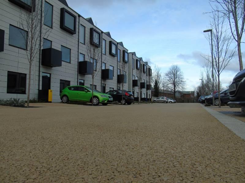 Ulticolour asphalt Modern Housing Develeopment, Salford