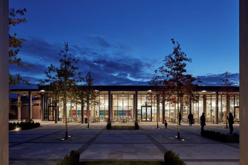 National Memorial Arboretum, featuring Reynaers aluminium curtain wall