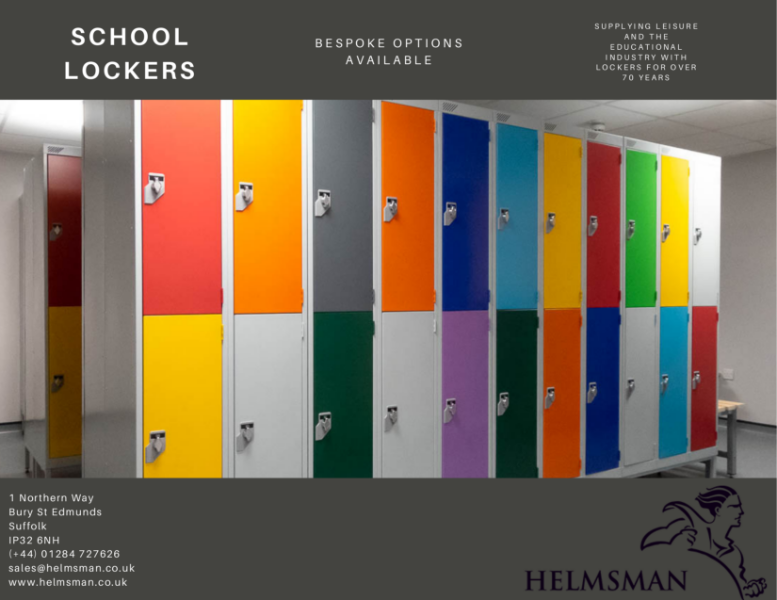 School Lockers Specification Sheet