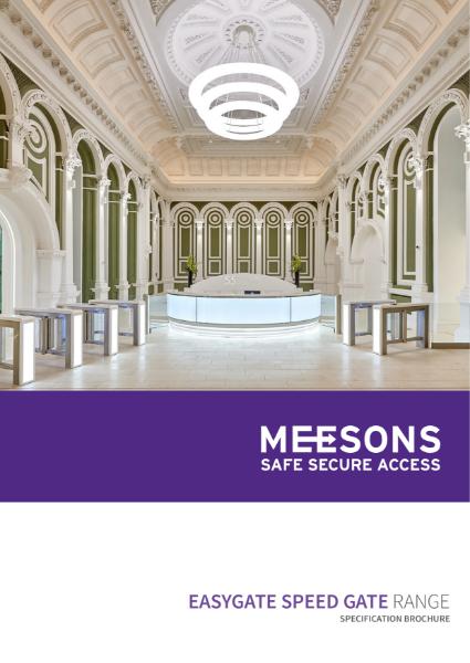 Meesons EasyGate Speed Gate Brochure