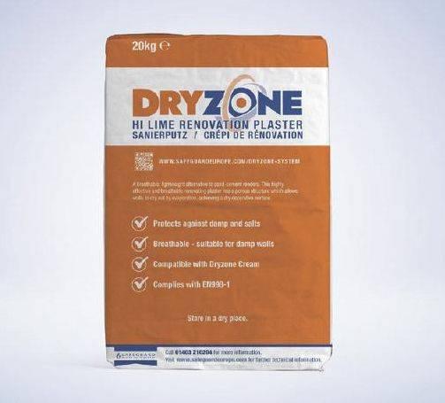 Dryzone Renovation Plaster (Hi Lime)