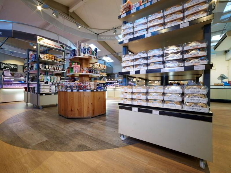 Expona LVT creates a simple statement floor in farm shop