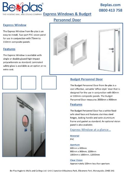 Beplas Hygienic Doors